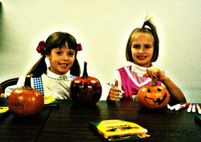 Katie dressed as Dorthy for Halloween