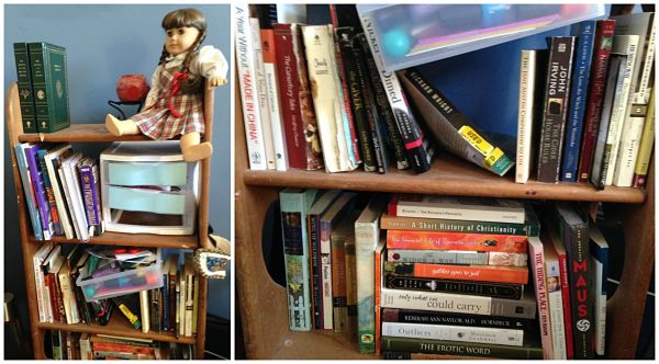 What's on your bookshelf, Amy E Patton