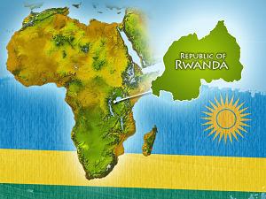 Rwanda, Africa map