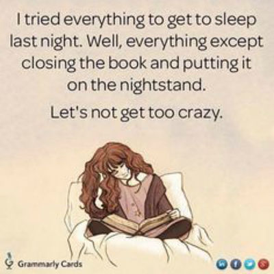 what i learned about late night reading meme