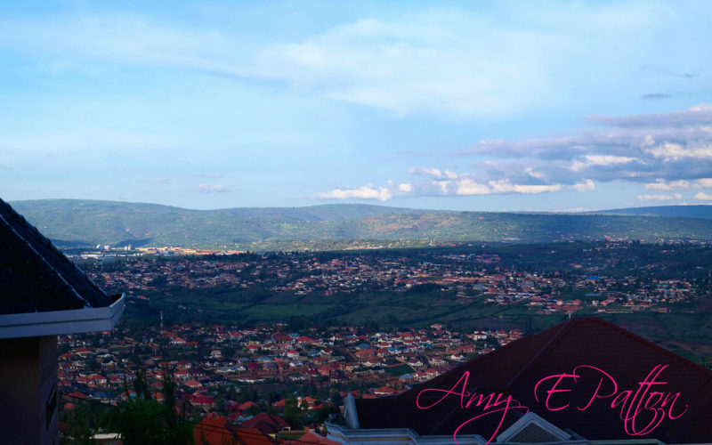 View of Kigali Rwanda from the Africa New Life Guesthouse